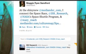 ISS tweet